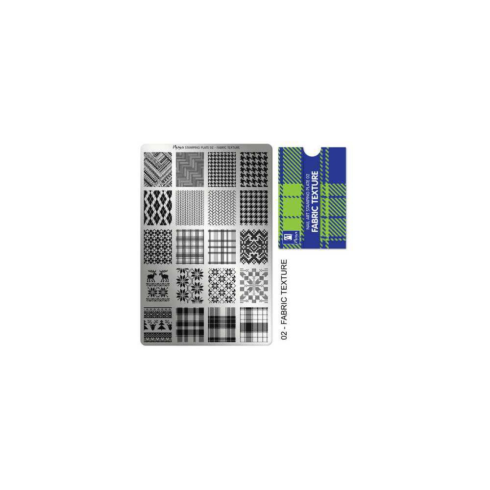 Moyra Stamping Plade 92 Fabric Texture