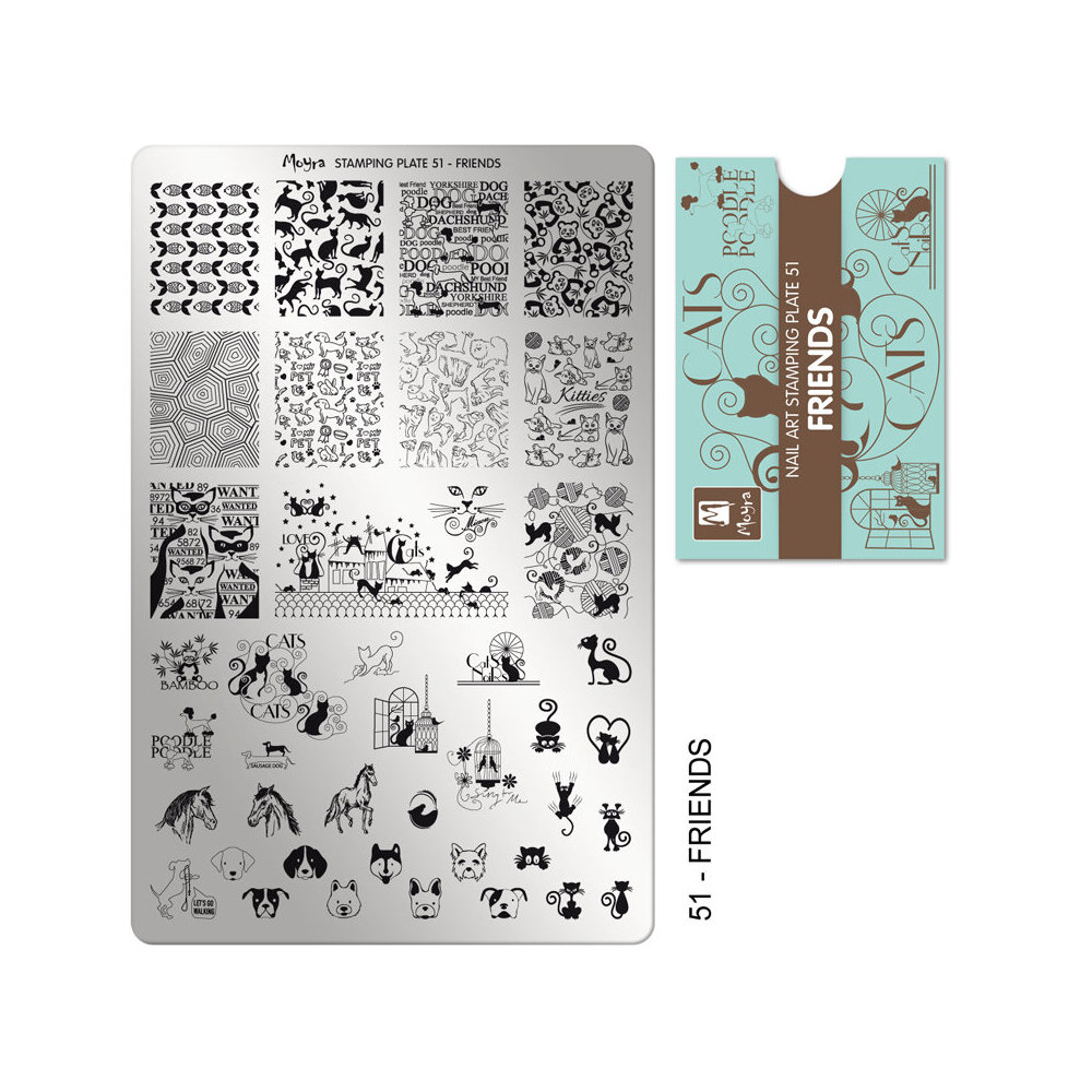 Moyra Stamping Plade 51 Friends