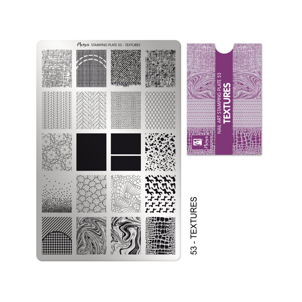 Moyra Stamping Plade 53 Textures