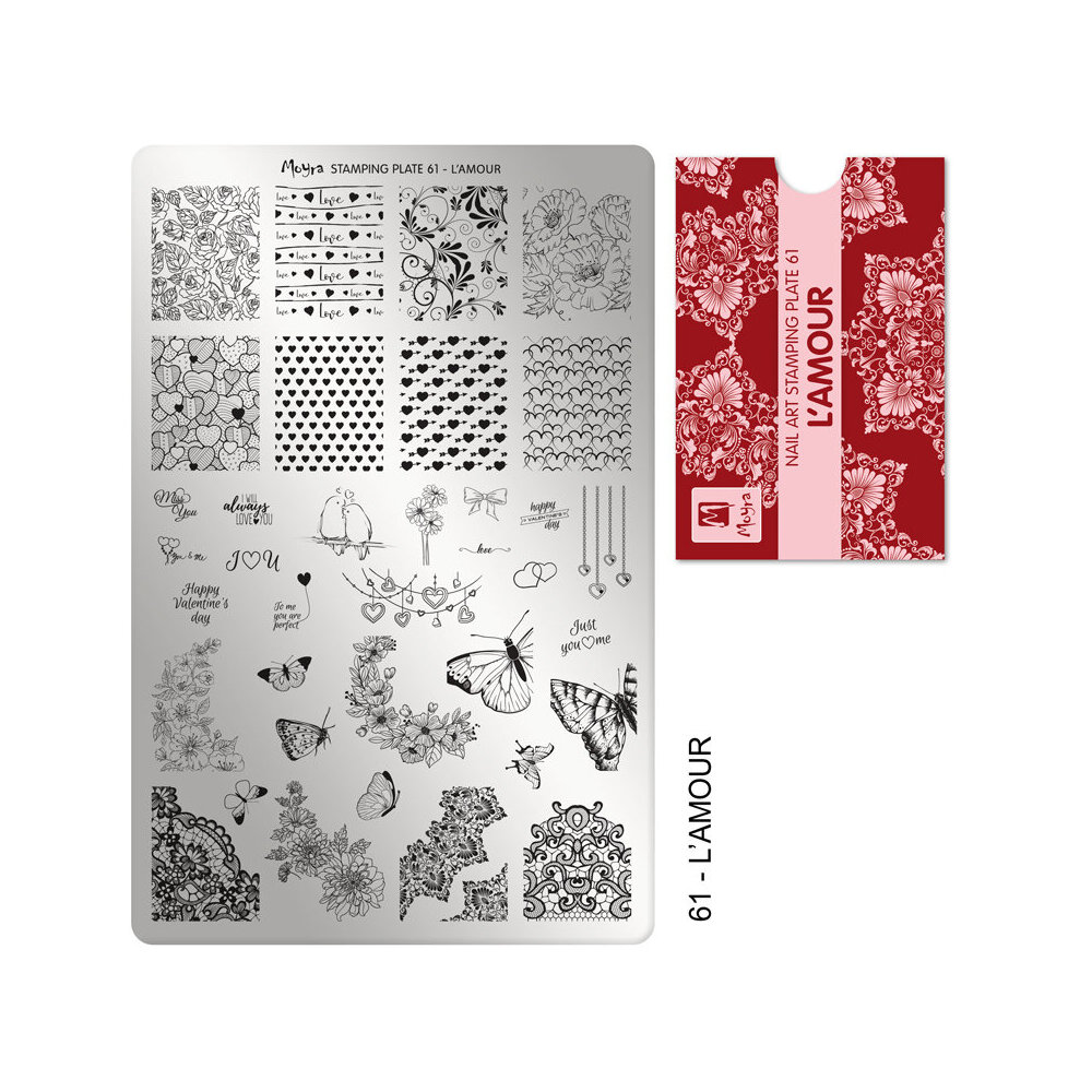 Moyra Stamping plade 61 L'Amour