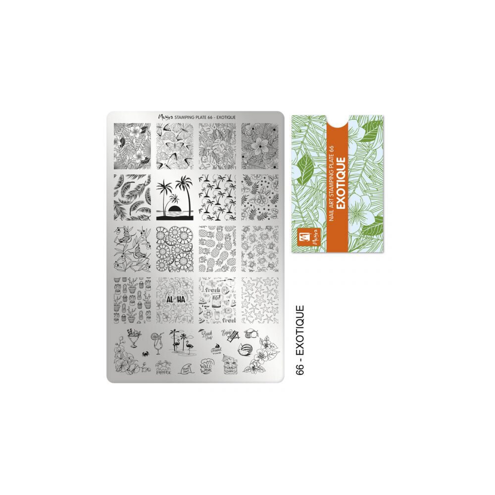 Moyra Stamping plade 66 Exotique