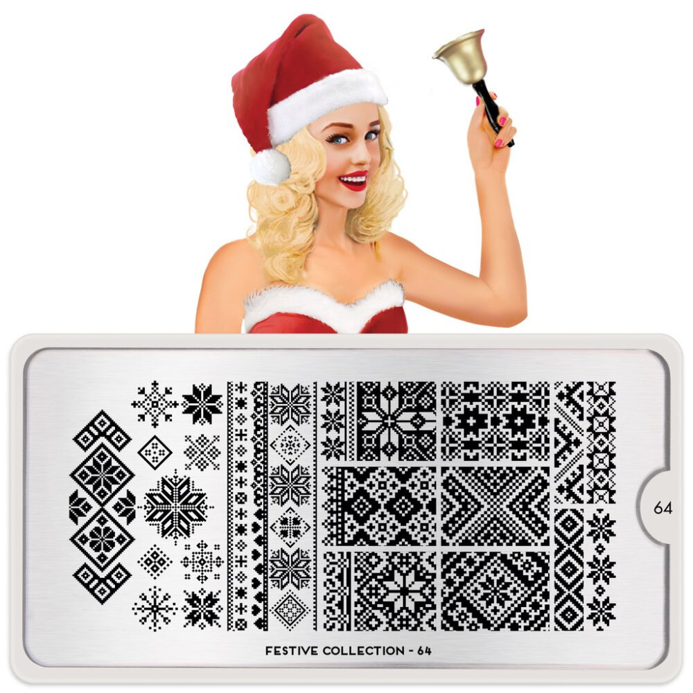 MoYou London Festive 64 Stamping plade