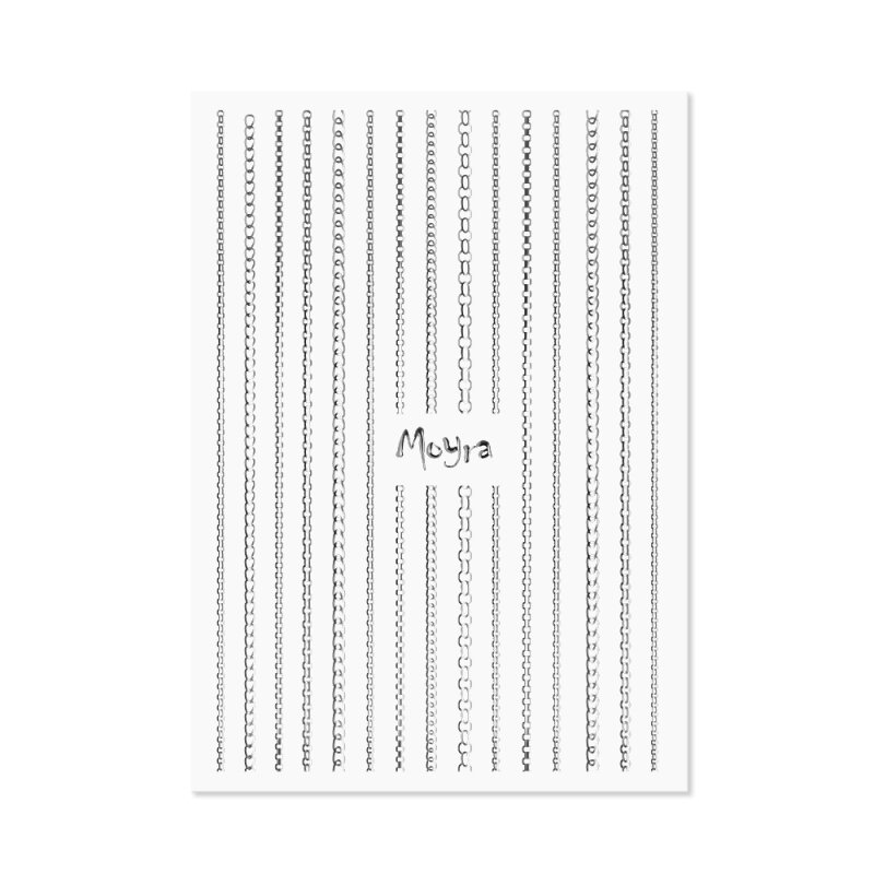 Moyra Nail Art Stripes 02 Silver Chains