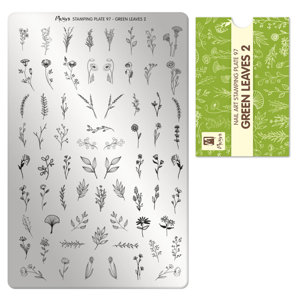 Moyra stamping plade 97 Green Leaves 2