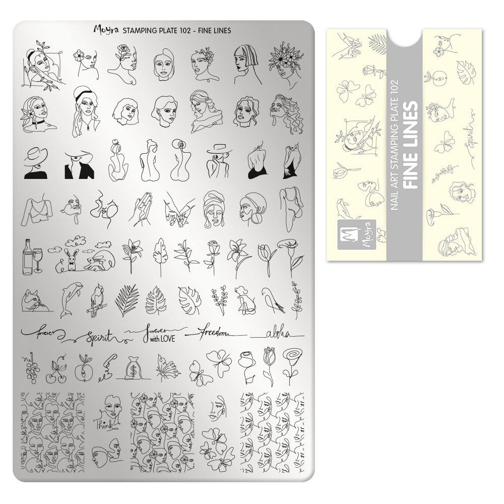 Moyra stamping plade 102 Fine Lines