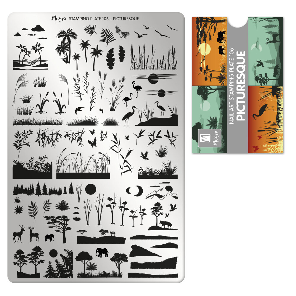 Moyra stamping plade 106 Picturesque