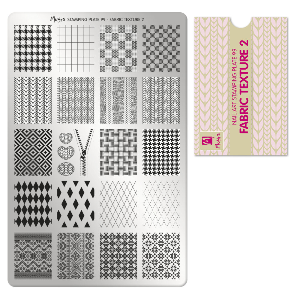 Moyra stamping plade 99 Fabric Texture 2