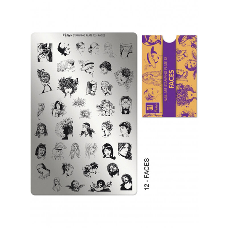 Moyra stamping plade 12 Faces