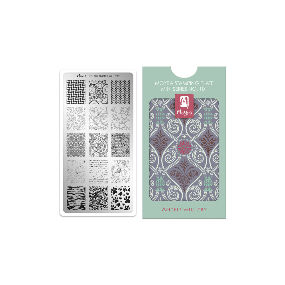 Moyra stamping plade 101 Angels Will Cry
