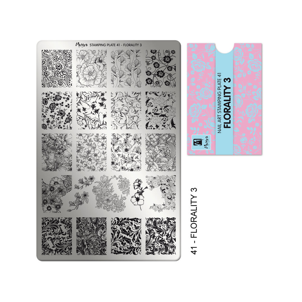 Moyra stamping plade 41 Florality 3