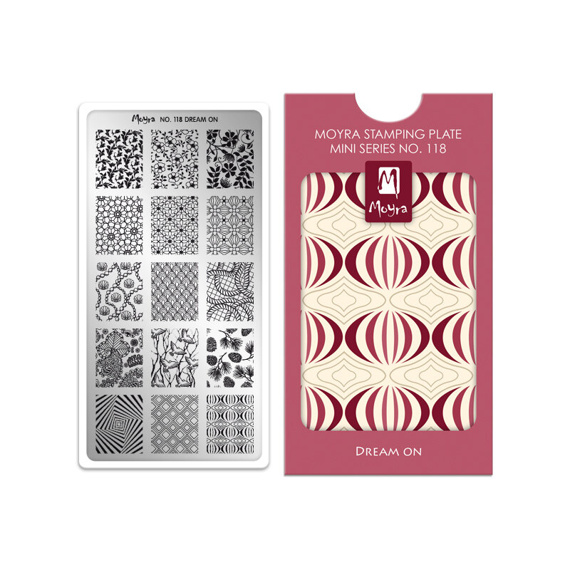 Moyra mini stamping plade 118 Dream on