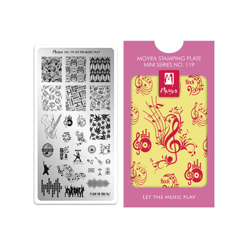 Moyra mini stamping plade 119 Let the music play