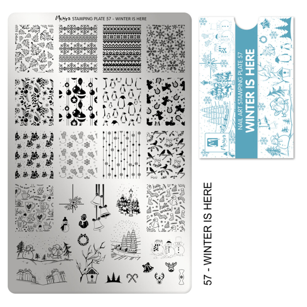 Moyra stamping plade 57 Winter is here