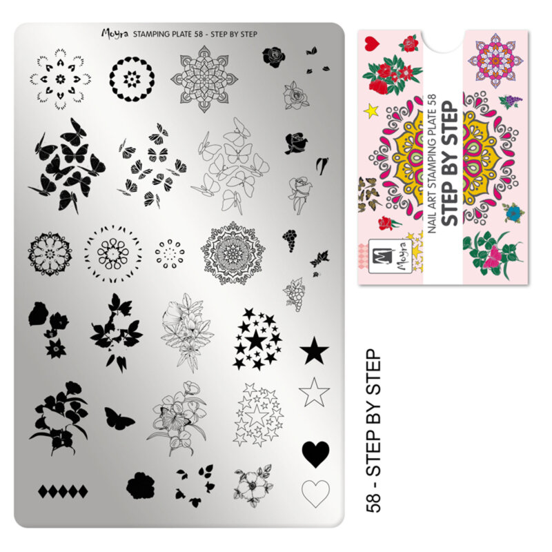 Moyra stamping plade 58 step by step