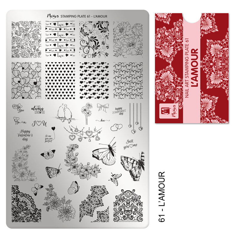 Moyra stamping plade 61 L´AMOUR