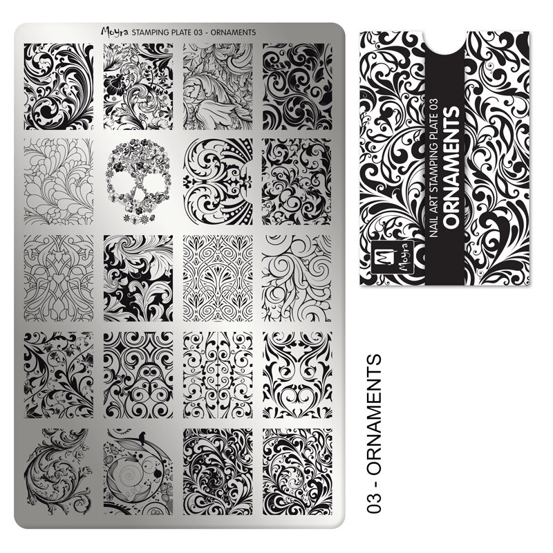 Moyra stamping plade 03 Ornaments
