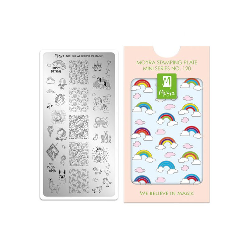 Moyra mini stamping plade 120 We Believe In Magic